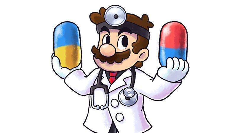 """أحد أغرب تجسيدات ماريو هي كونه """"دكتور ماريو"""" في بعض الألعاب دون قبعته"""