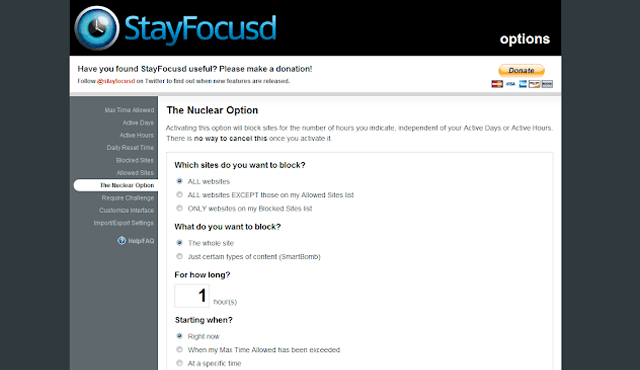 إضافات جوجل كروم StayFocusd