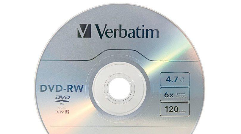 قرص DVD-RW قابل لإعادة الكتابة