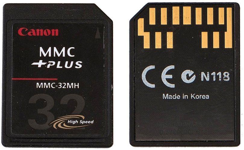 بطاقة ذاكرة من نوع MMC (الإصدار الكبير وليس المصغر) بسعة 32MB