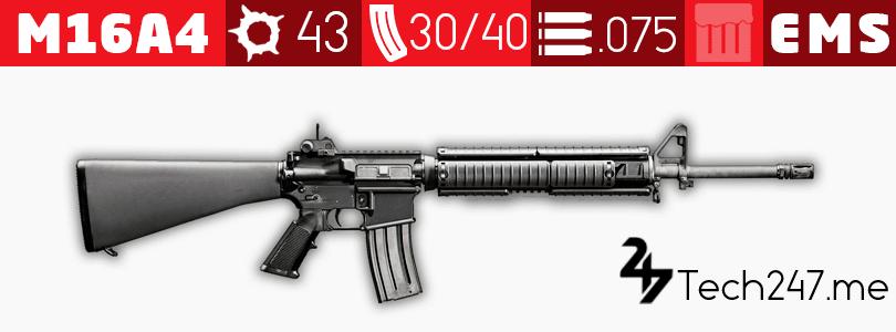 سلاح M16A4 في لعبة ببجي - لعبة PUBG