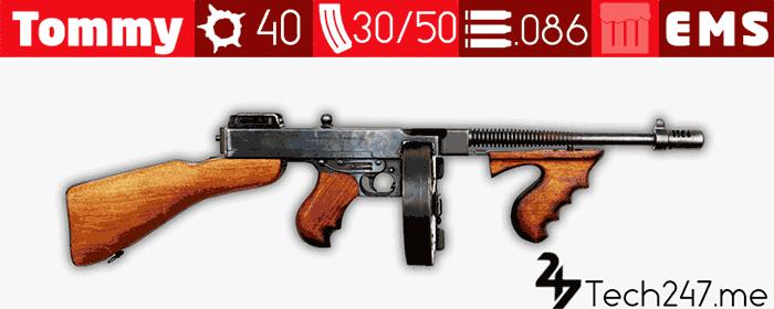 سلاح Tommy Gun في لعبة ببجي - لعبة PUBG