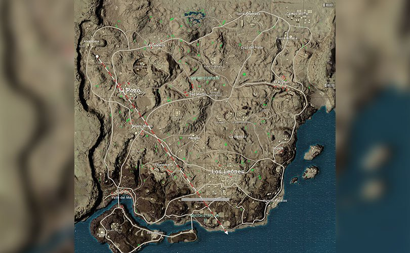 Map of Miramar in a game of Peggy - PUBG game