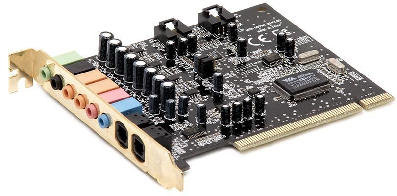 بطاقة صوت - Audio Card - مكونات الحاسوب / اجزاء الكمبيوتر