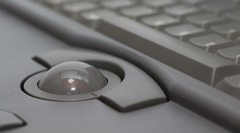 كرة تتبع - Trackball - مكونات الحاسوب / اجزاء الكمبيوتر