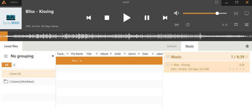 مشغل موسيقى AIMP للحواسيب