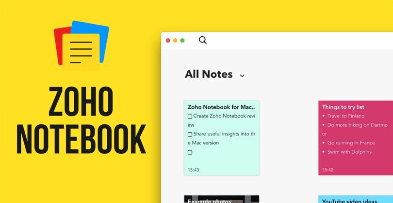 برنامج دفتر ملاحظات Zoho Notebook