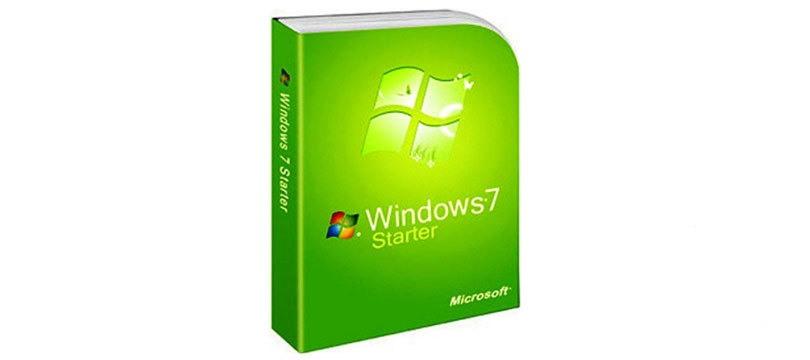إصدار نظام ويندوز 7 ستارتر Windows 7 Starter