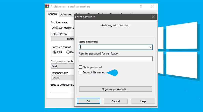 Winrar Default Password