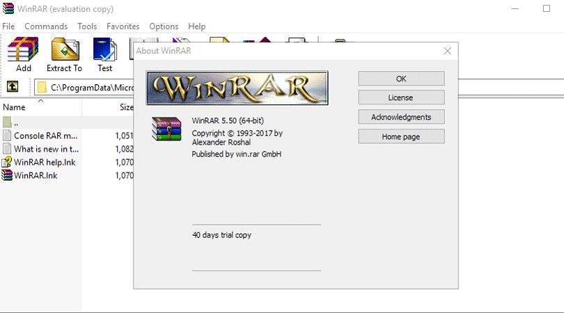 برنامج ضغط الملفات WinRAR