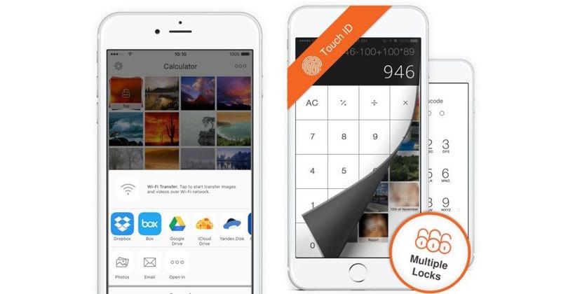 قفل الصور ضمن تطبيق خاص لهواتف ايفون