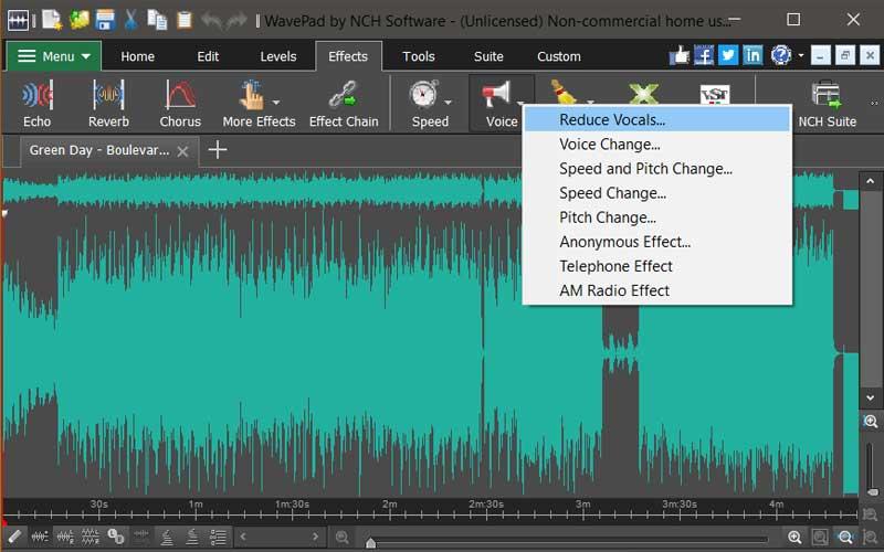 فصل الصوت عن الموسيقى باستخدام برنامج Wavepad