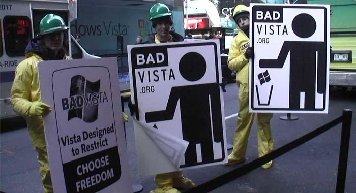 احتجاجات على نظام ويندوز فيستا
