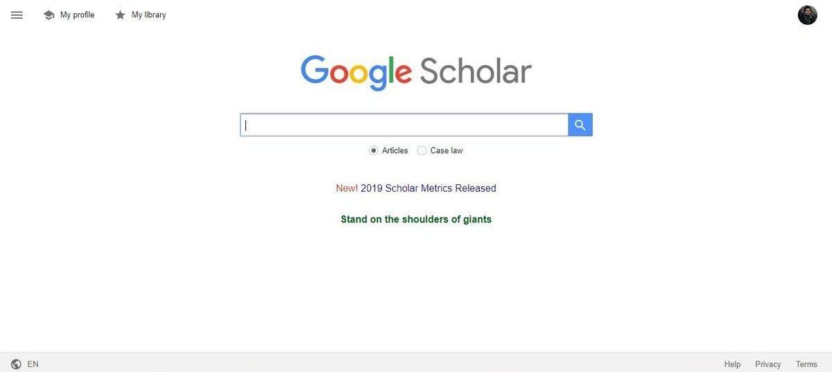 محرك بحث Google Scholar