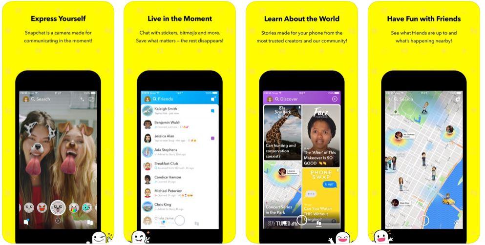 برنامج Snapchat - تغيير الصوت