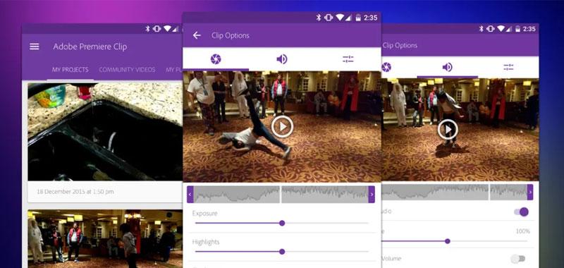 تطبيق Adobe Premier Clip - برامج تحرير الفيديو