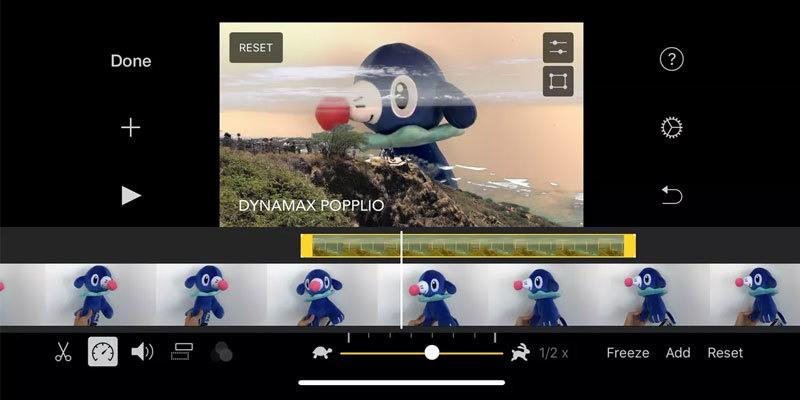 برنامج تصميم الفيديو iMovie