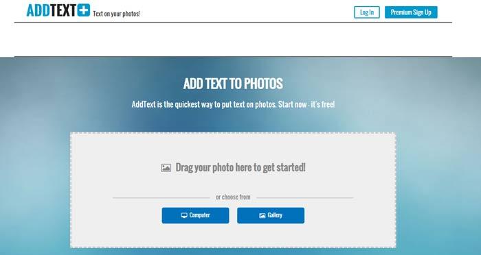 موقع ADDTEXT للكتابة على الصور
