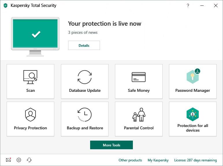 مضاد الفيروسات Kaspersky Total security