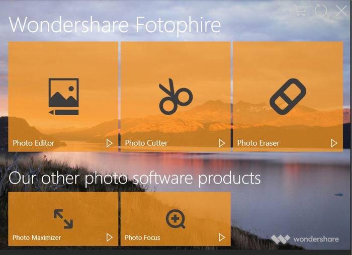 برنامج الكتابة على الصور Wondershare Fotophire