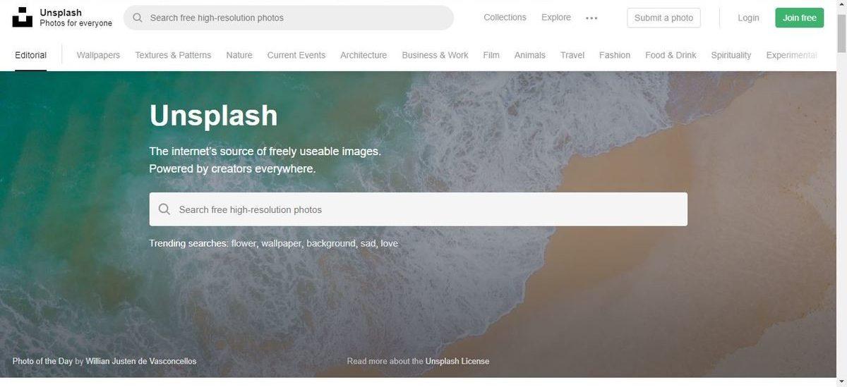 موقع Unsplash - صور احترافية