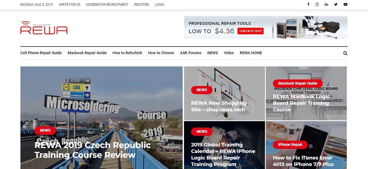 موقع REWA technology - صيانة الجوالات