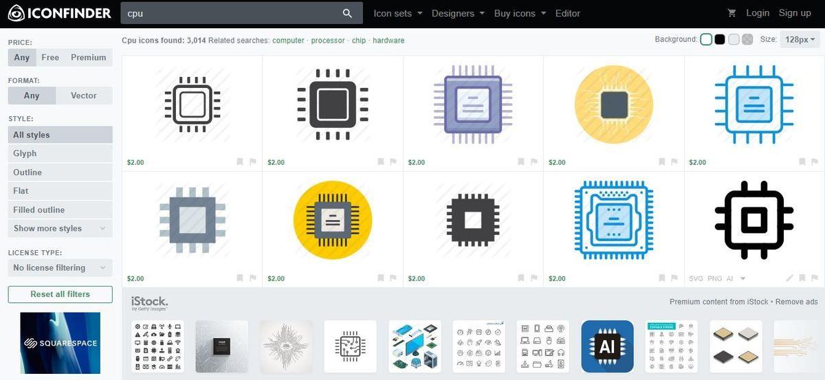 موقع Iconfinder - أيقونات ورموز