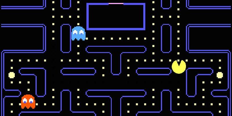 لعبة Pac-Man - ألعاب قديمة من الثمانينيات