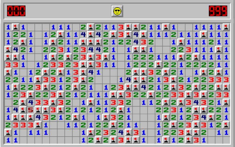 لعبة Minesweeper - ألعاب قديمة من التسعينيات