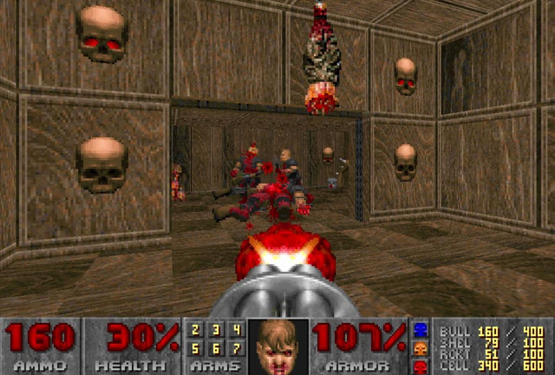 لعبة Doom - ألعاب قديمة من التسعينيات