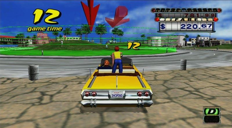لعبة Crazy Taxi - ألعاب قديمة من التسعينيات