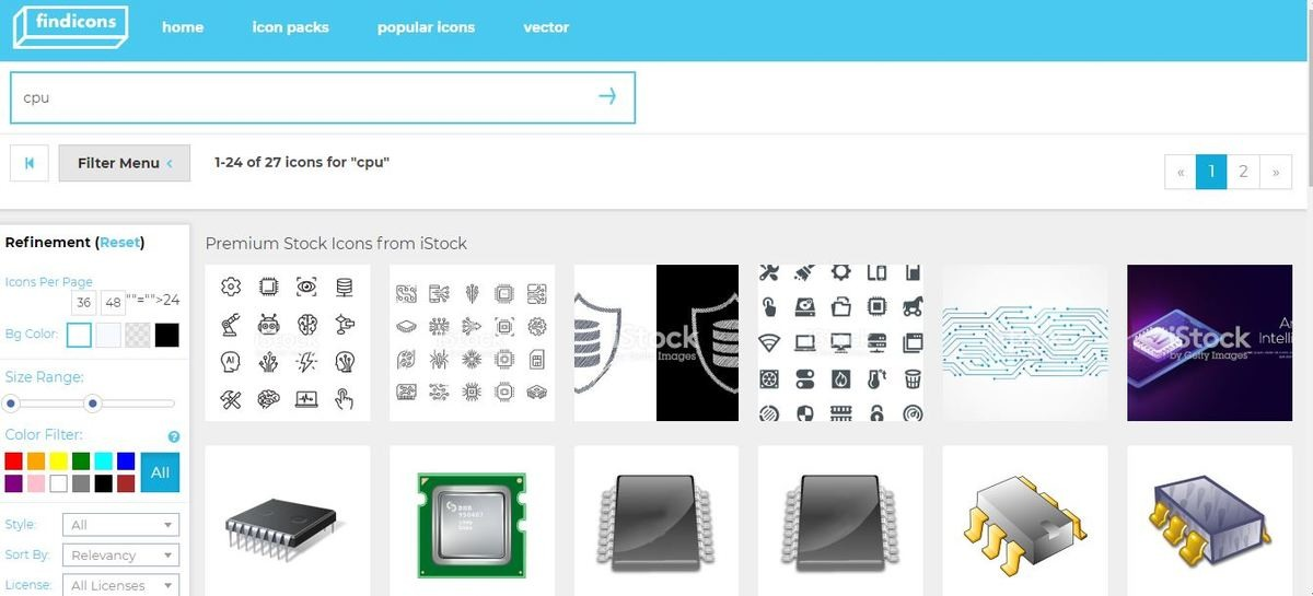 موقع Find icons -