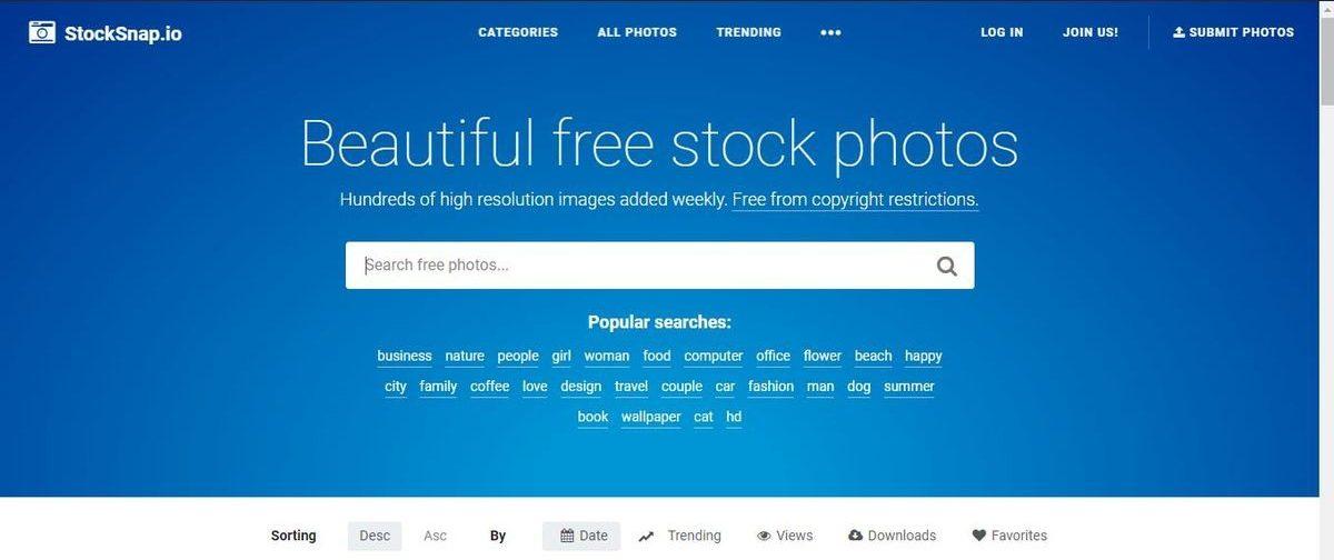 موقع StockSnap - صور احترافية