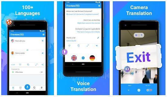 برنامج iTranslate - ترجمة باستخدام الكاميرا