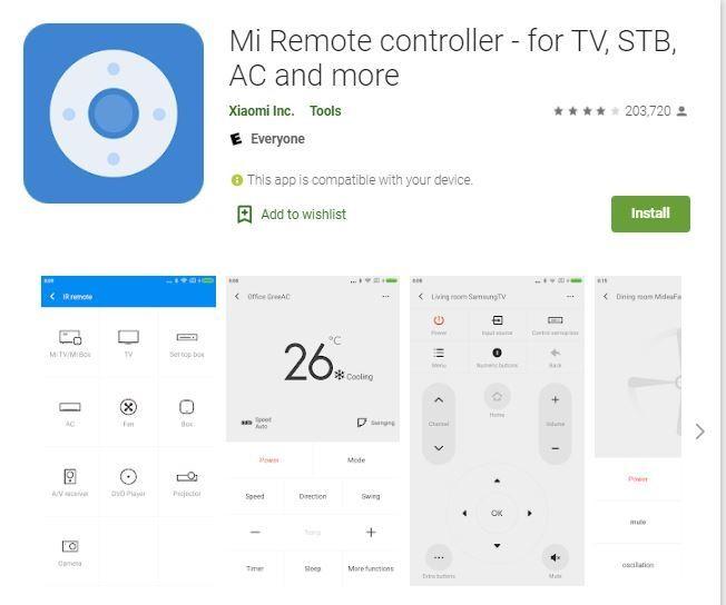 برنامج ريموت تلفزيون Xiaomi Mi Remote Controller