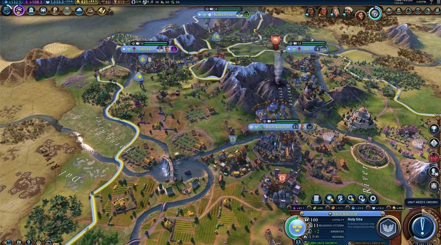 لعبة Civilization 6 - أفضل ألعاب استراتيجية