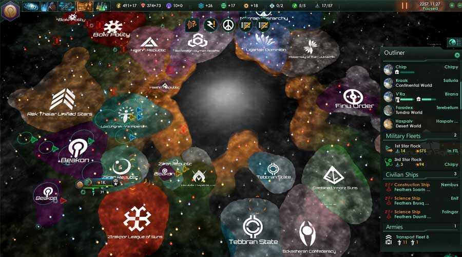 لعبة Stellaris - لعبة استراتيجية في الفضاء