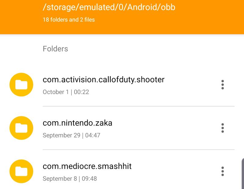 ملفات obb الضرورية لتشغيل الألعاب كبيرة الحجم