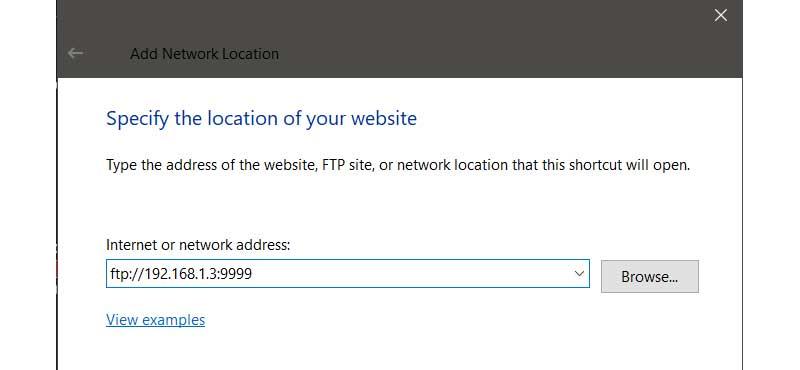 الاتصال بخادم FTP من نظام Windows