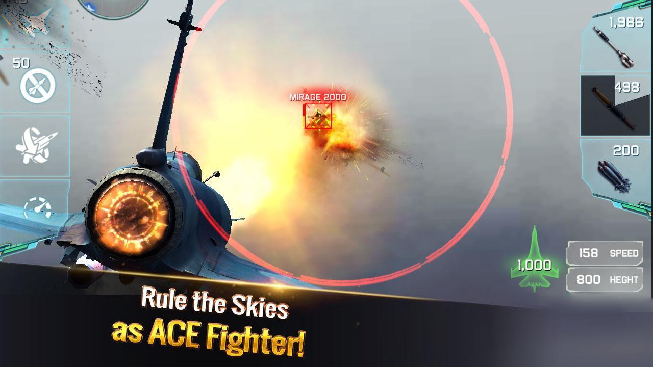 لعبة Ace Fighter: Modern Air Combat - حرب الطائرات