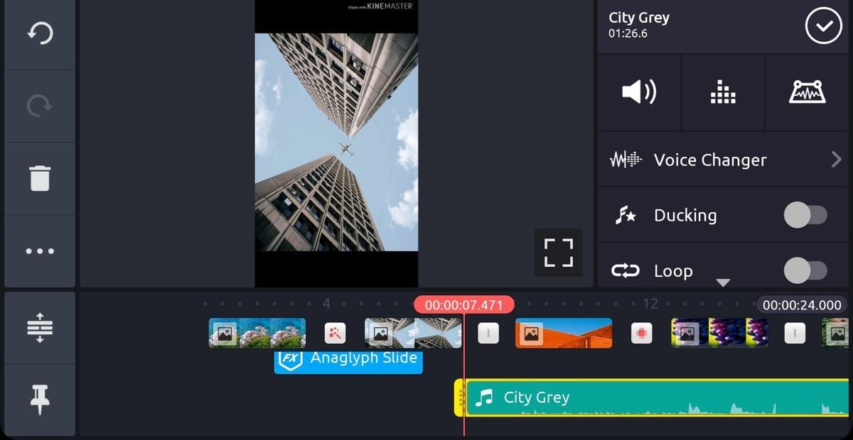 إضافة موسيقى - صانع الفيديو