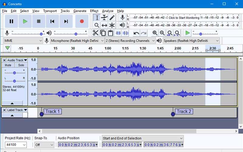 برنامج Audacity - أفضل برامج تعديل الصوت المجانية
