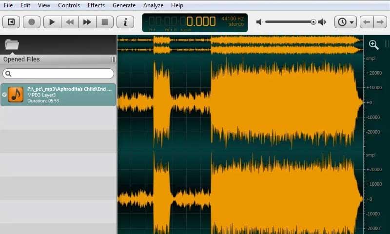 برنامج Ocenaudio - أفضل برامج تعديل الصوت