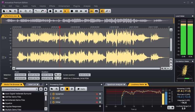 برنامج Acoustica - أفضل برنامج تحرير صوت احترافي