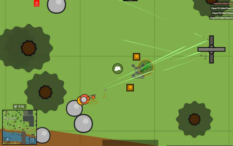 لعبة Surviv.io - لعبة باتل رويال ثنائية الابعاد