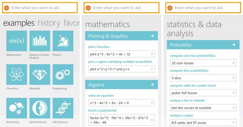 حل مسائل الرياضيات وحل المعادلات عبر Wolfram Alpha