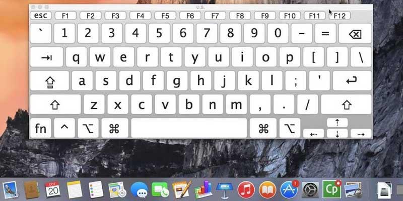 إظهار لوحة المفاتيح على الشاشة - إظهار الكيبورد على الشاشة في ماك
