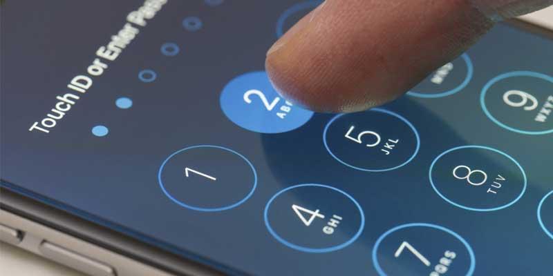 قفل الهاتف باستخدام رمز PIN