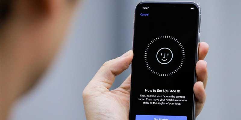 قفل الهاتف باستخدام بصمة الوجه