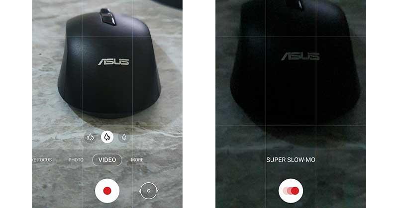 نفس اللقطة تماماً في وضع التصوير العادي ووضع التصوير البطيء